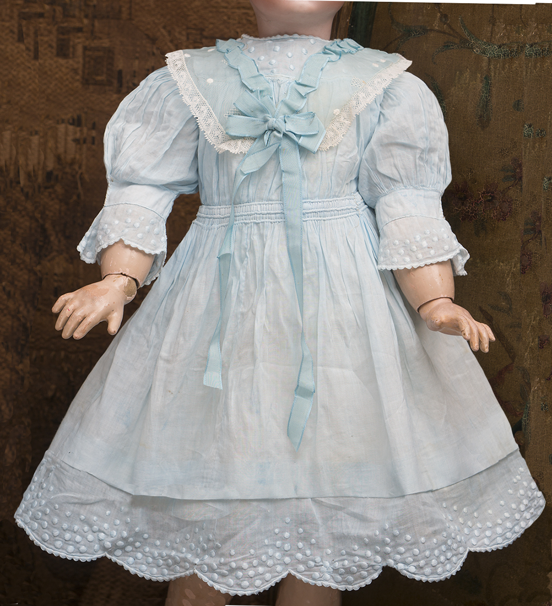Antique doll dress and chemise