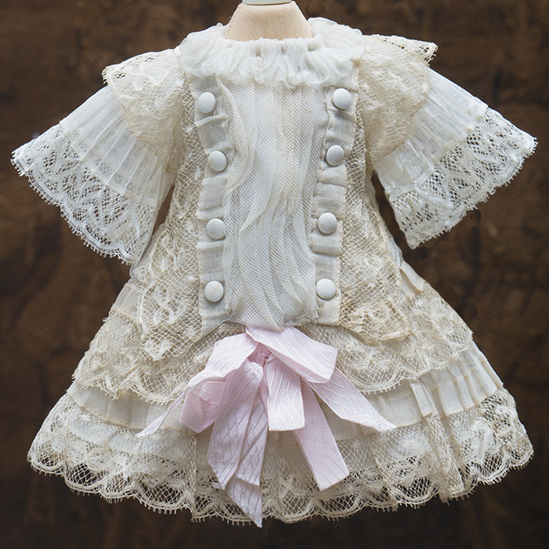 Antique Lace Dress for doll 14-15 in tall