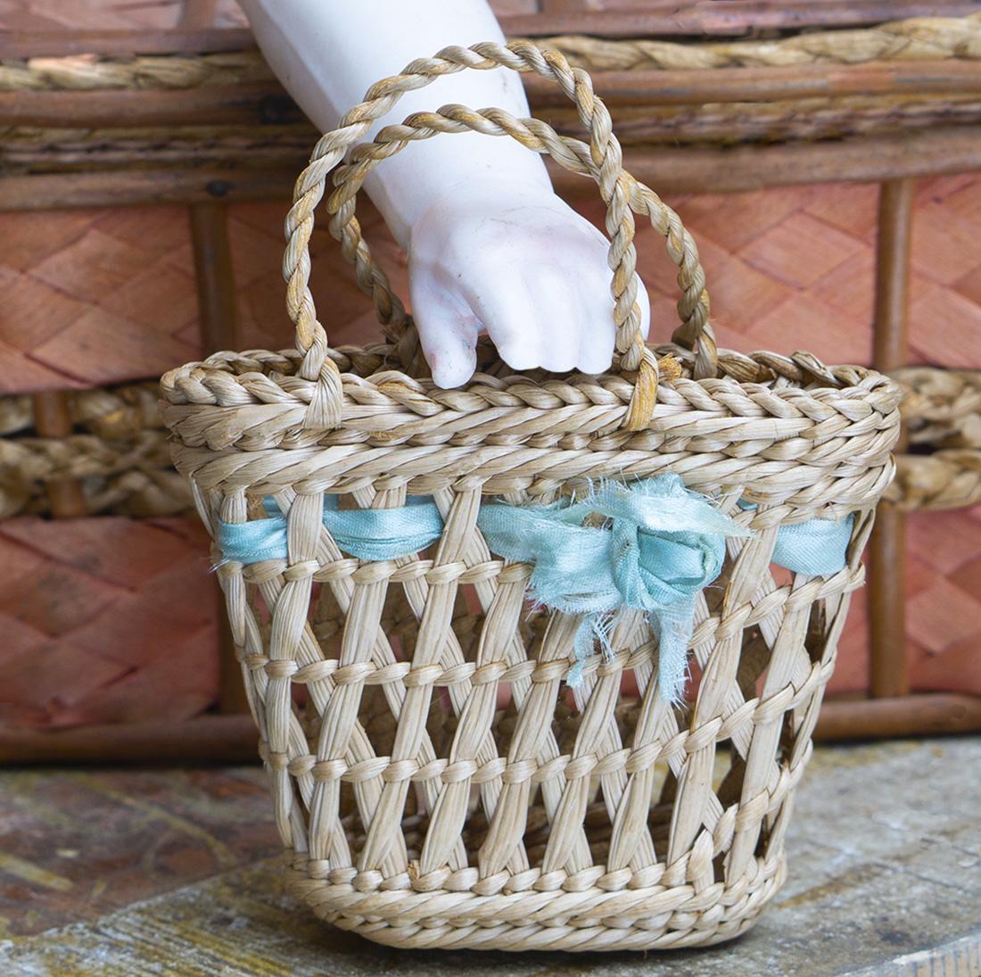 Antique straw bag