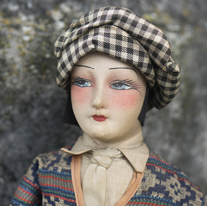 French Salon Boudoir Golfer Doll