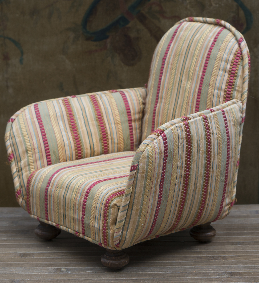 Antique doll armchair