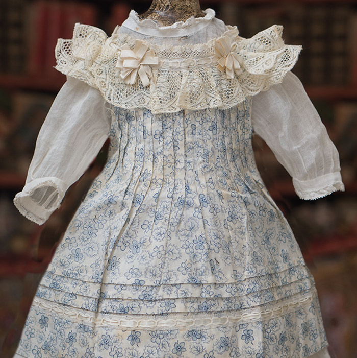 AntiqueDress and Pinafore for doll