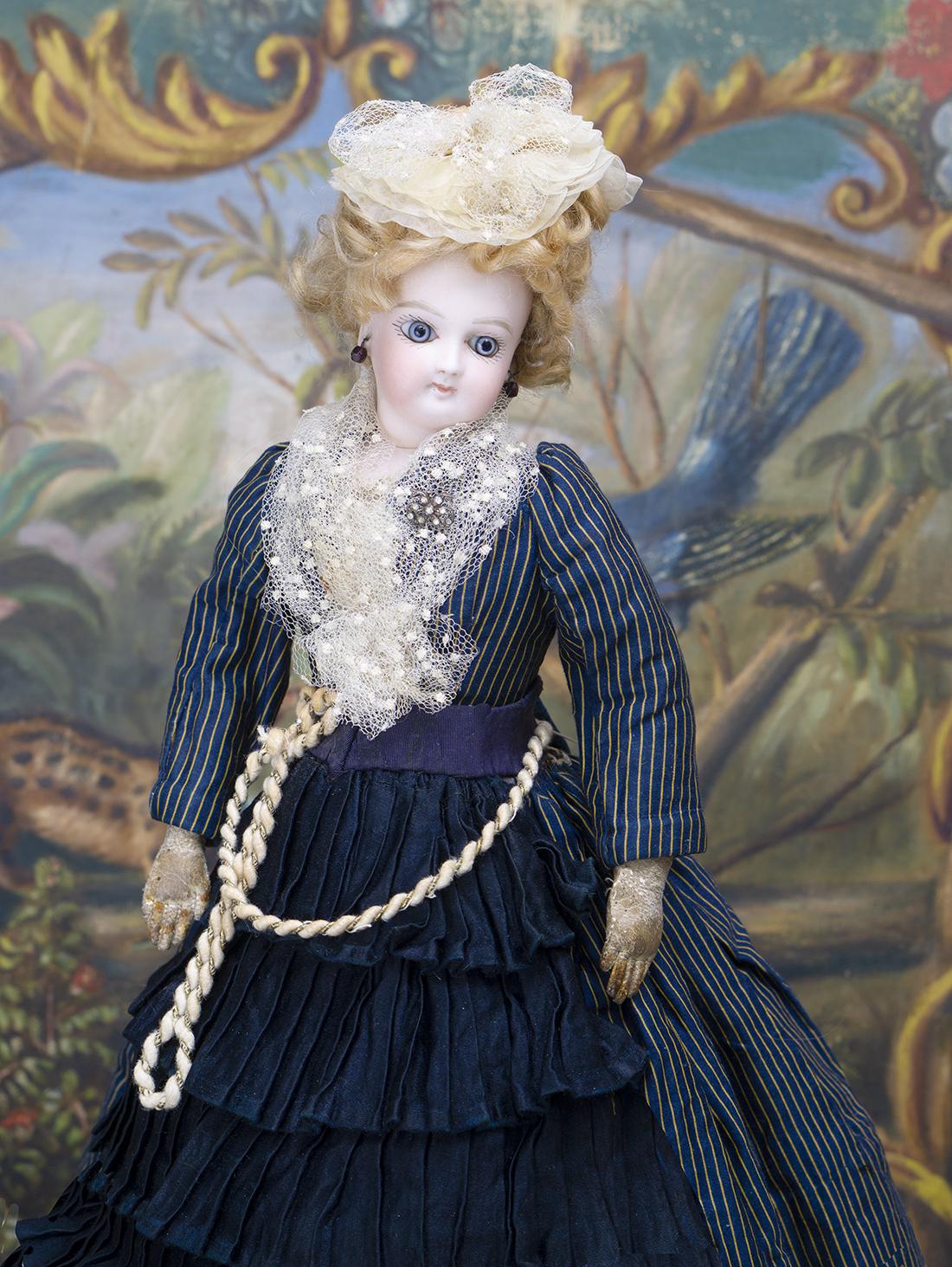 33 см Модная куколка Jumeau в оригинальном костюме