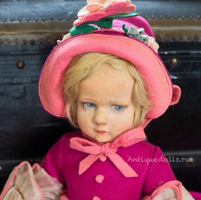 45 см Итальянская Кукла LENCI в оригинальном костюме, 300 серия, 1930е годы