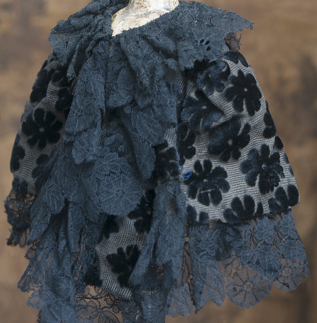 Antique doll cape