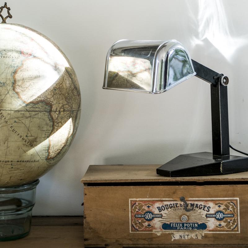 Старинная французская кабинетная настольная лампа, 1930е годы