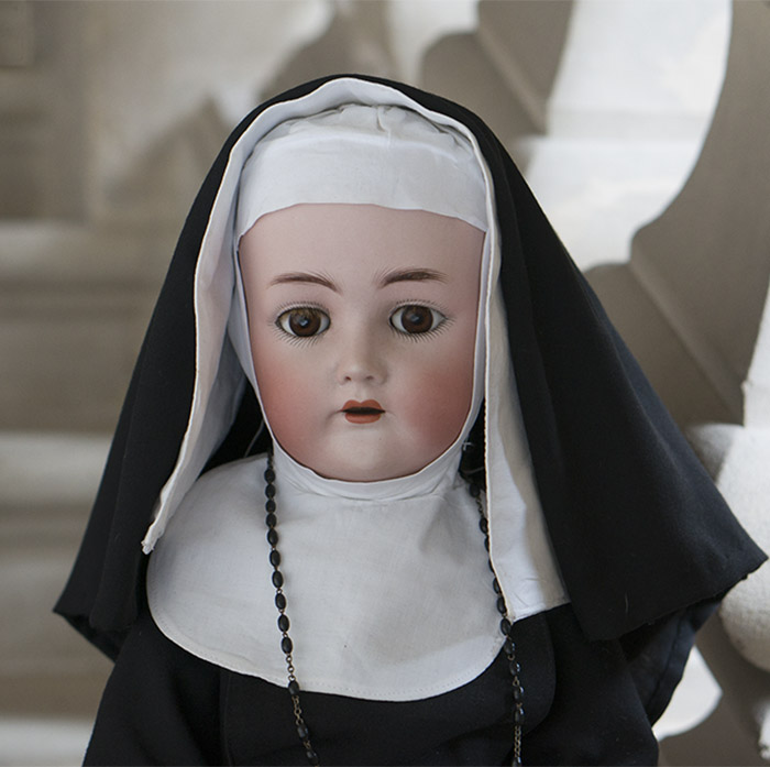 S&H, K&R Nun German Doll