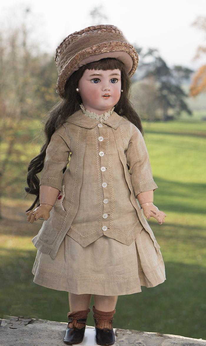 Большая Кукла DEP JUMEAU  высотой 70см, 1900-е годы