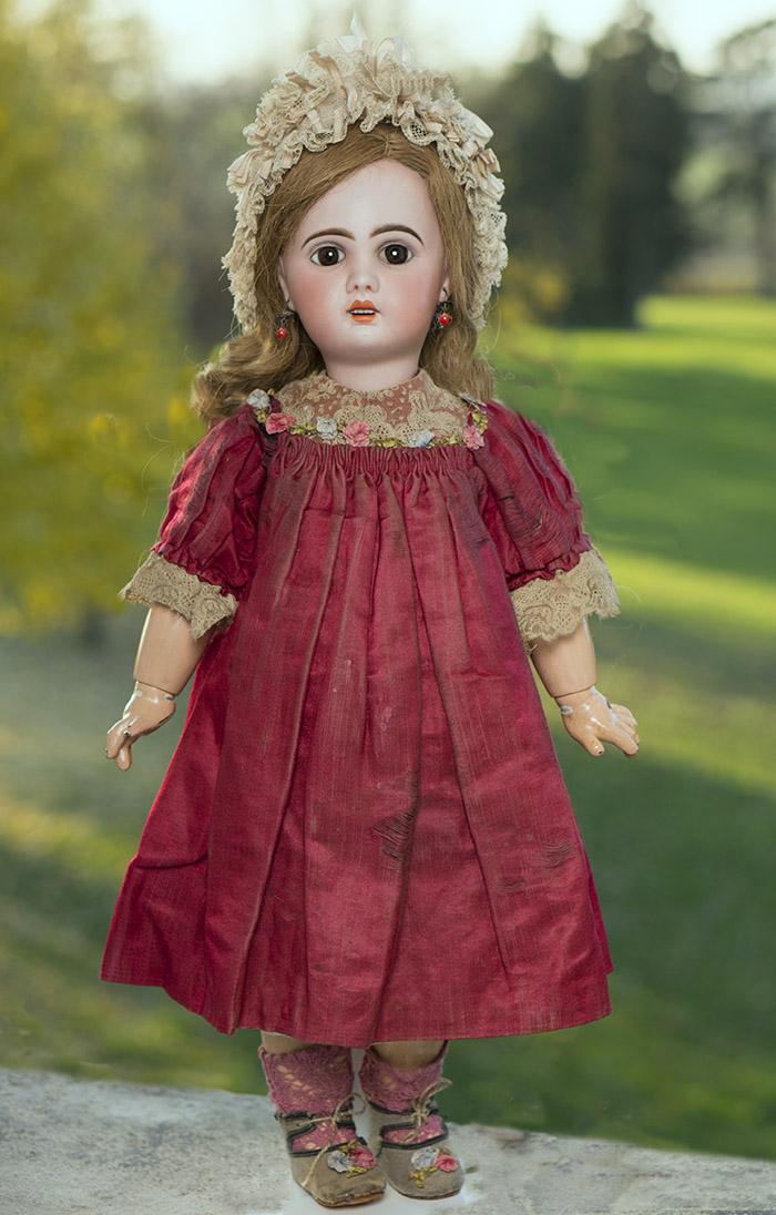 Кукла Jumeau с открытым ртом, отливка 1907, высота 49 см, 1900г.