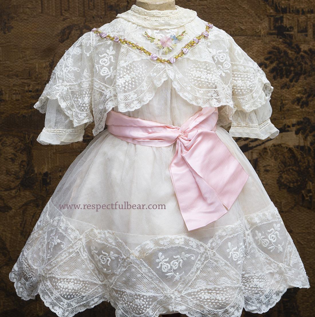 Antique tulle lace dress
