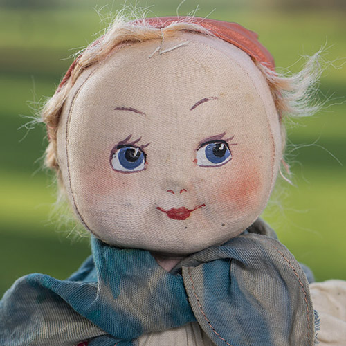 Русская тряпичная кукла, 1920-е годы