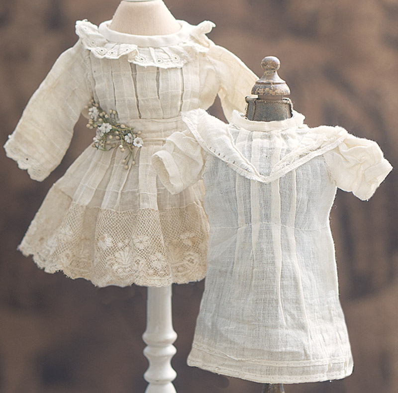 Antique dress and chemise