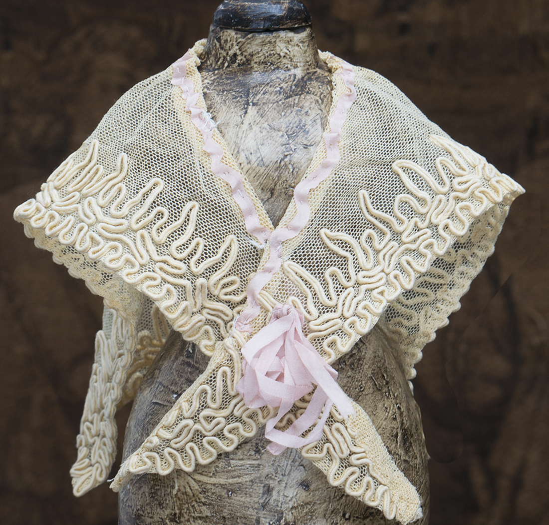 Antique doll shawl