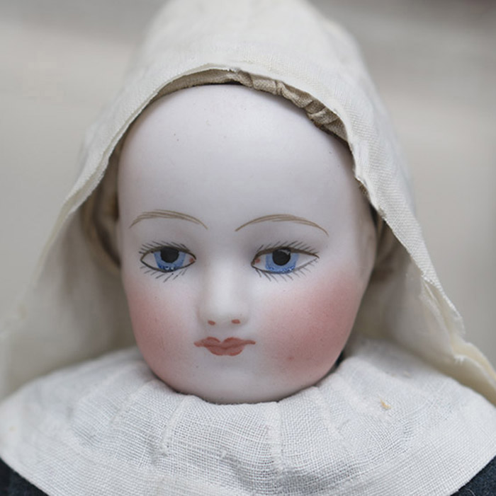 Early French Doll, Original Nun's Habit