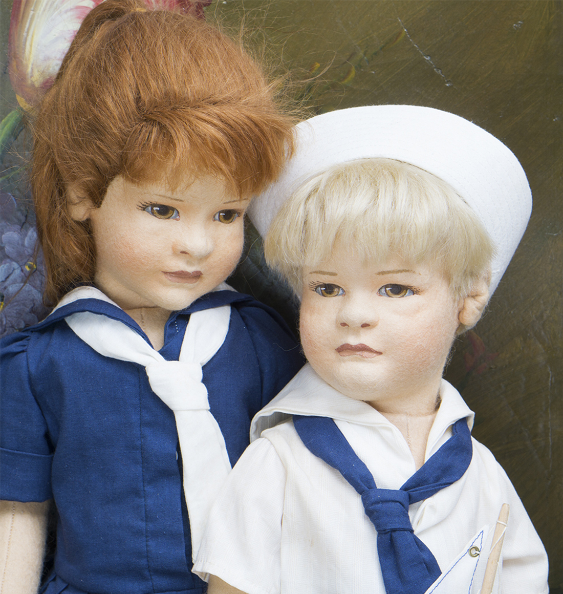Lillian and Arthur dolls