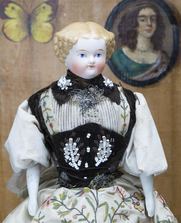 29 см Немецкая кукла в оригинальном костюме, 1880 г