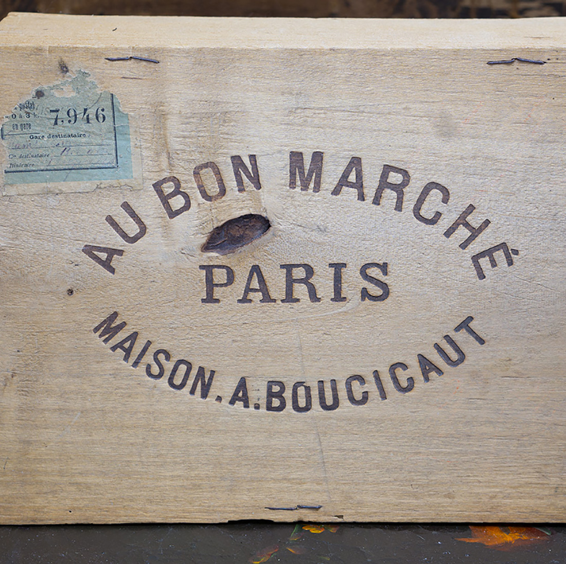 Antique Wooden Toy Box