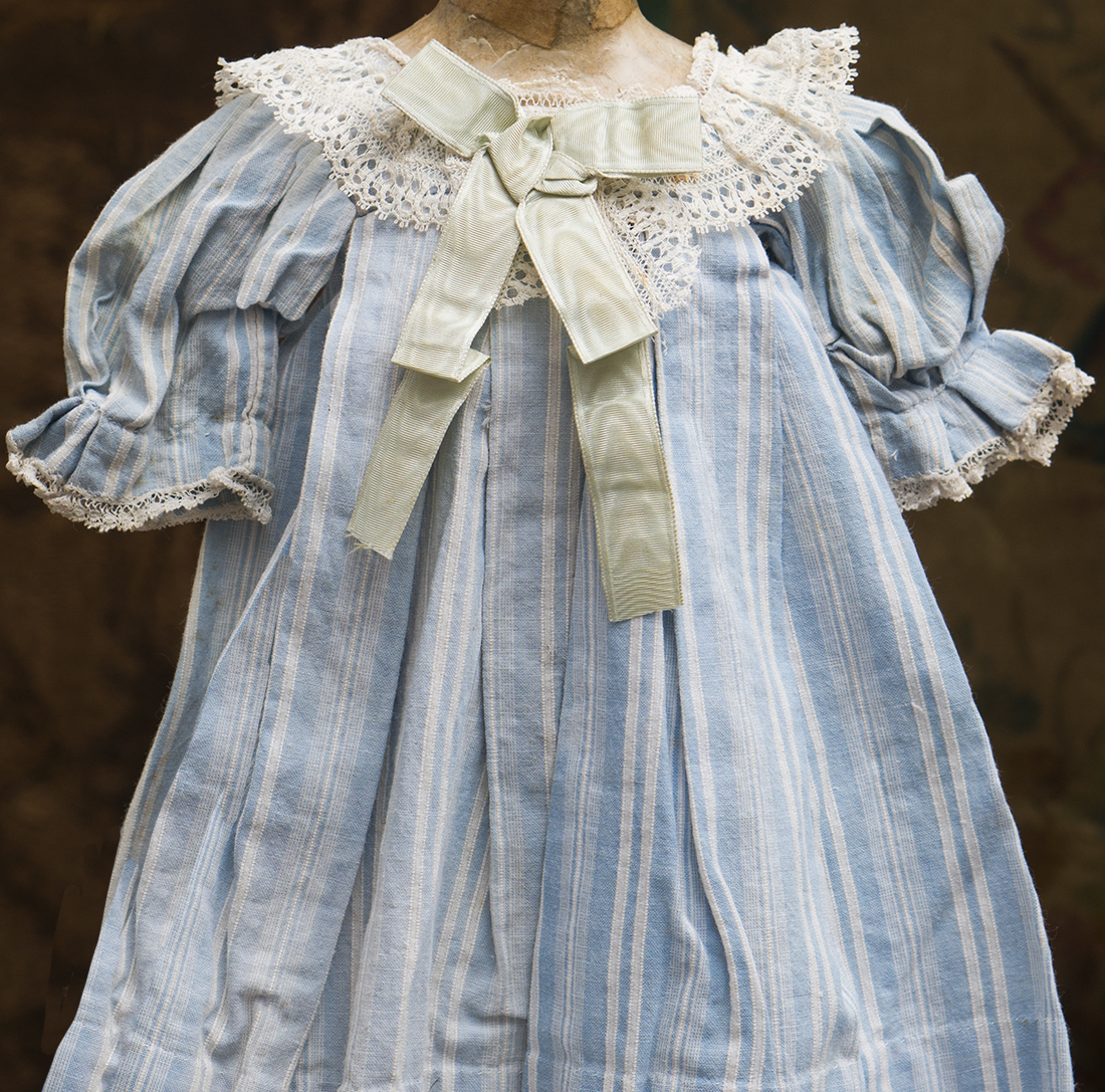 Antique stripped doll dress