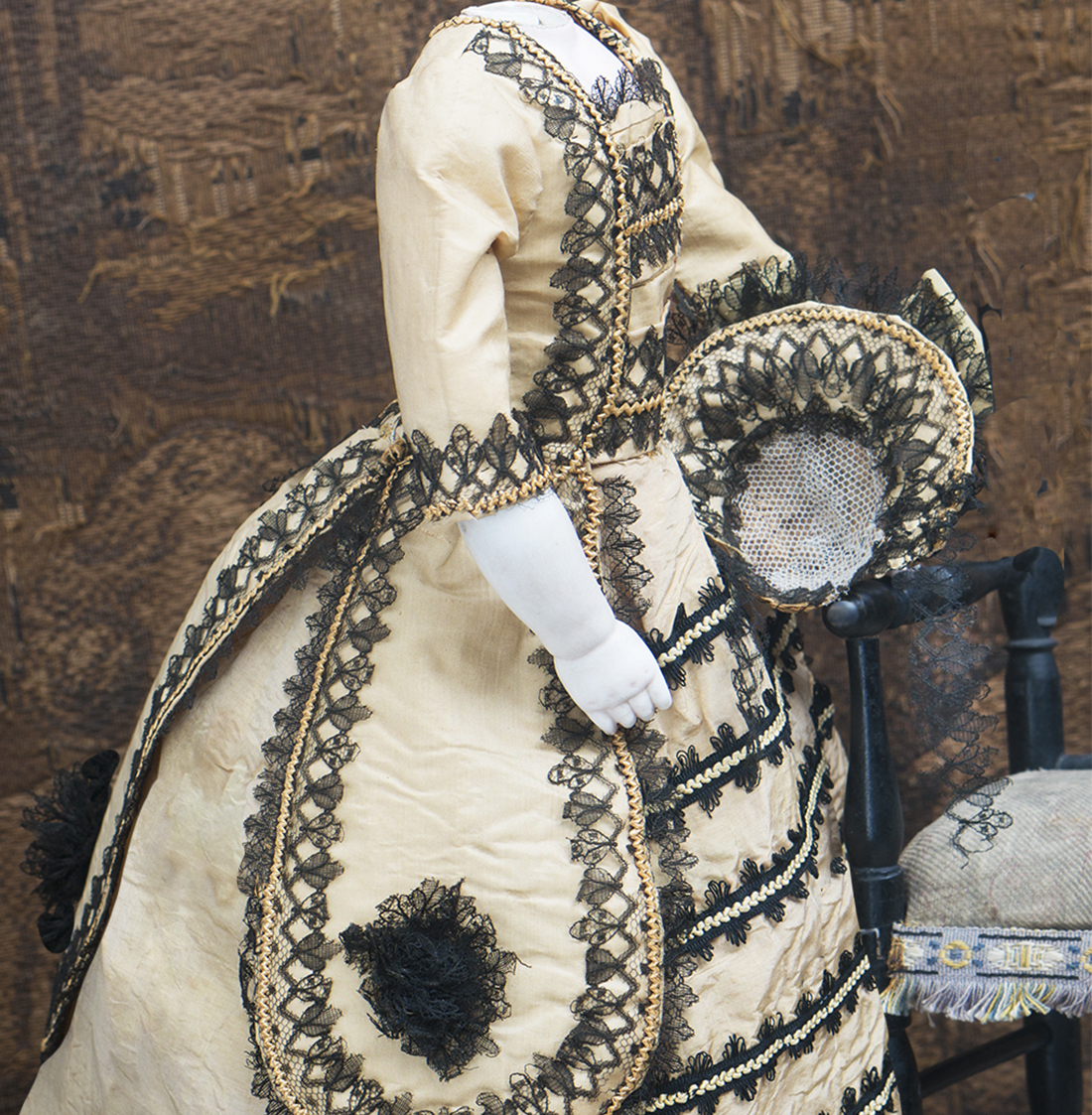 Antique fashion dress and hat