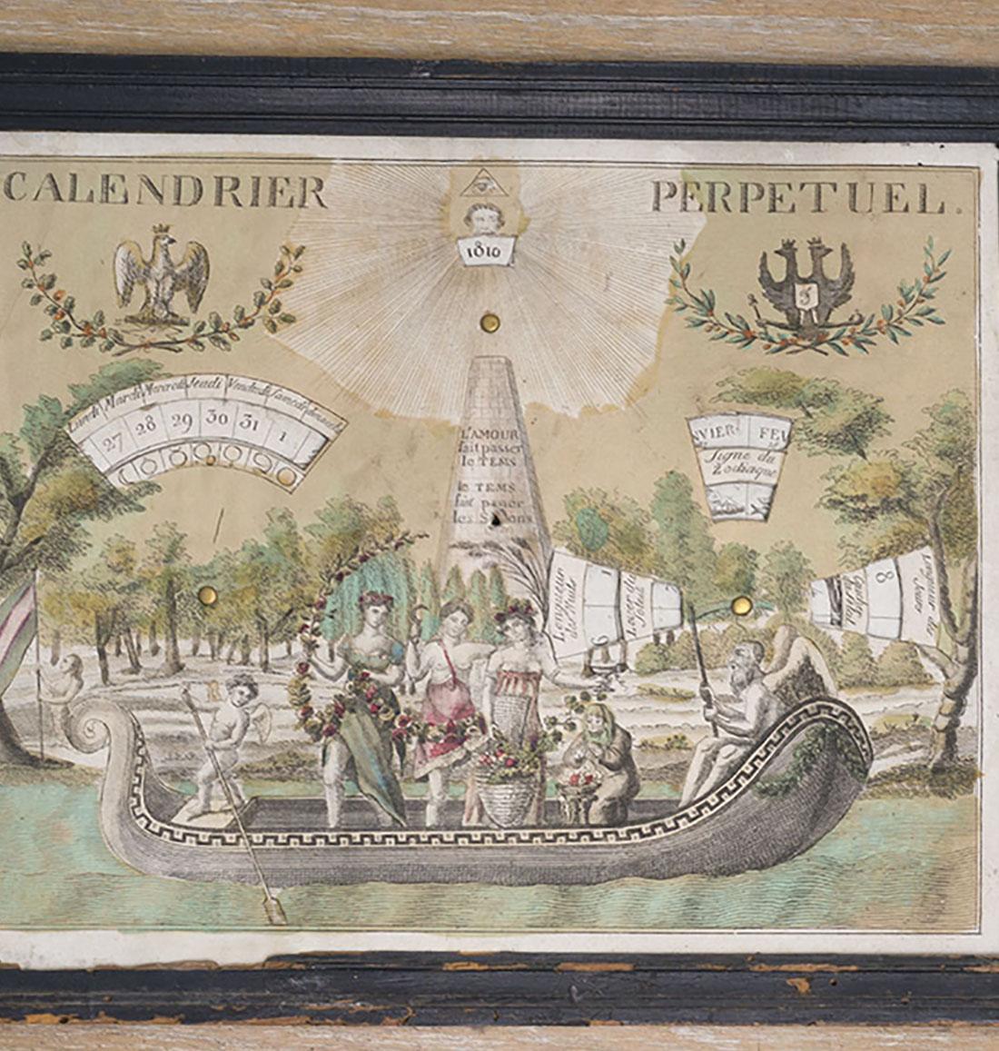 Perpetual calendar 1810 - 1820s.