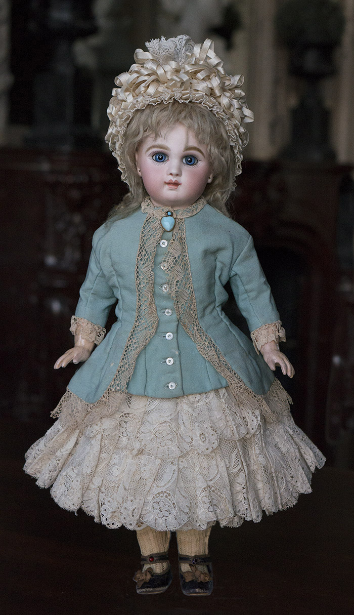 46 см кукла JUMEAU  bebe с закрытым ртом, 1880-е годы