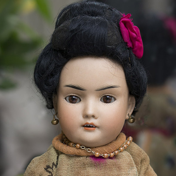 Antique German Oriental doll