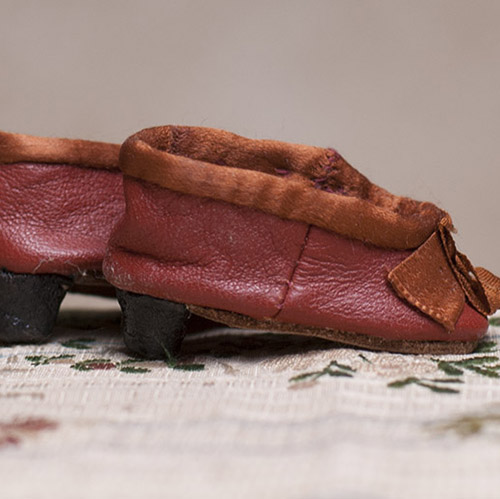 Antique slippers for fashion doll