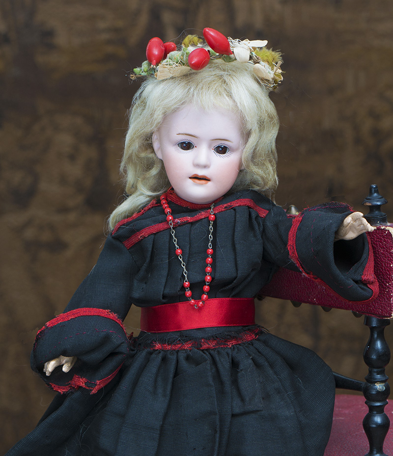 34см Редкая Характерная кукла Gebruder Heubach, модель 7711, в оригинальном костюме