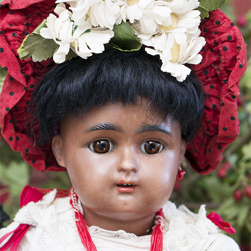 German Brown Bisque doll