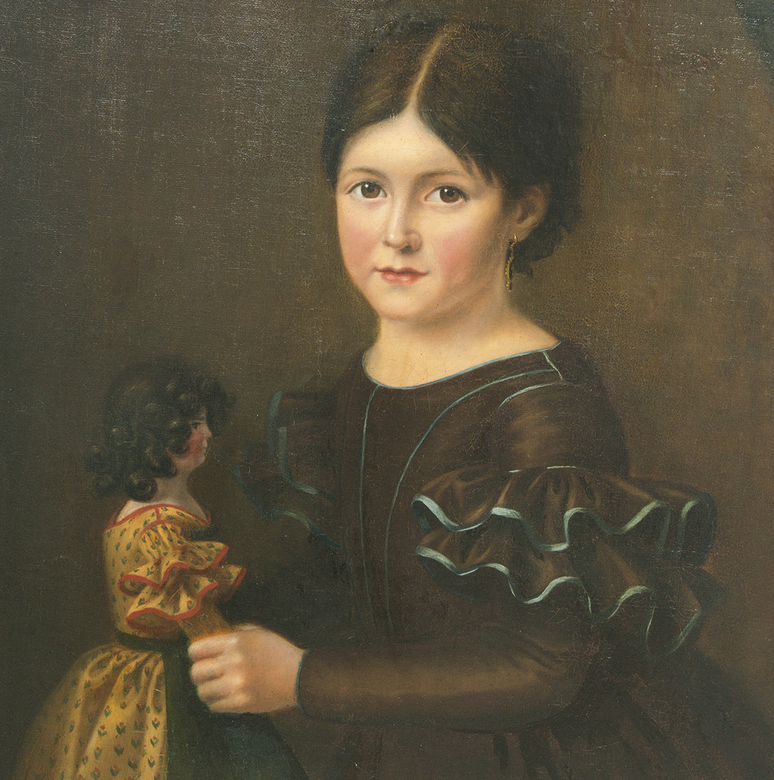 Girl with doll, c.1880