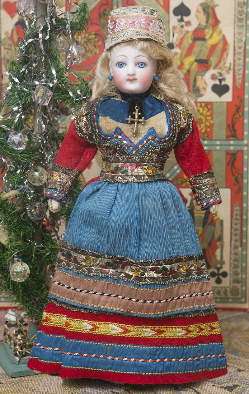 Модная куколка Gaultier 25см в оригинальном Бретонском национальнром костюме