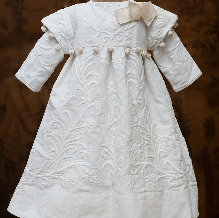 White Pique Pinafore Dress