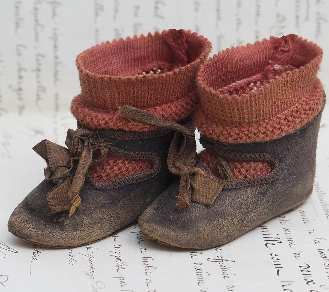Старинные Оригинальные Фабричные Ботинки и носки Jumeau