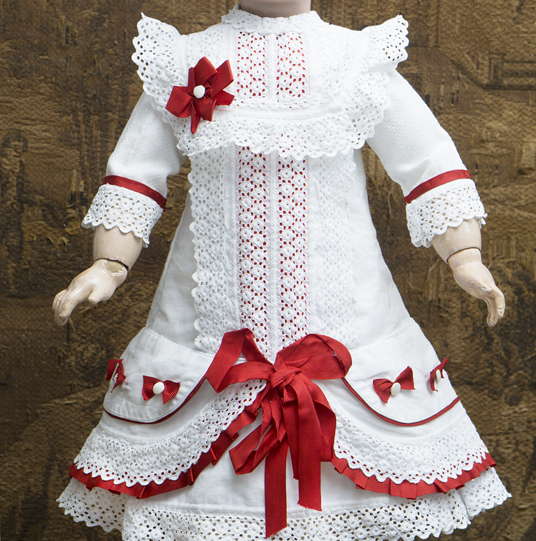 Antique original white pique dress