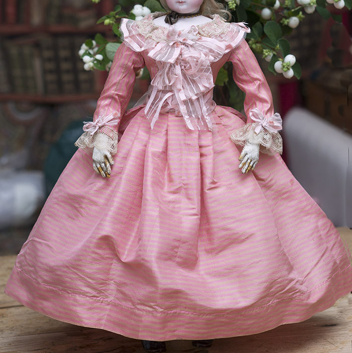 Antique Silk Dress for fashion doll
