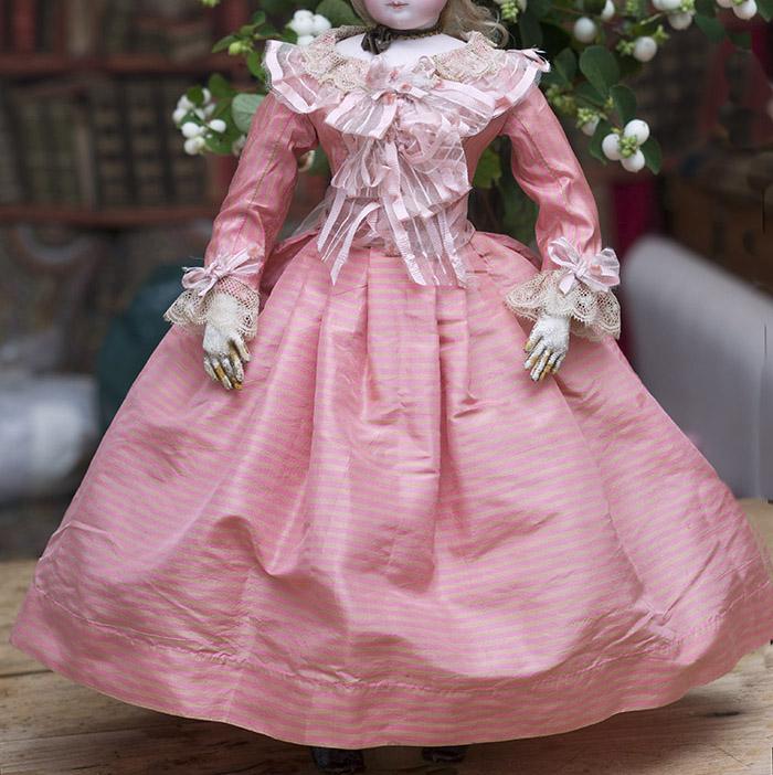 Antique Silk Dress for fashion doll