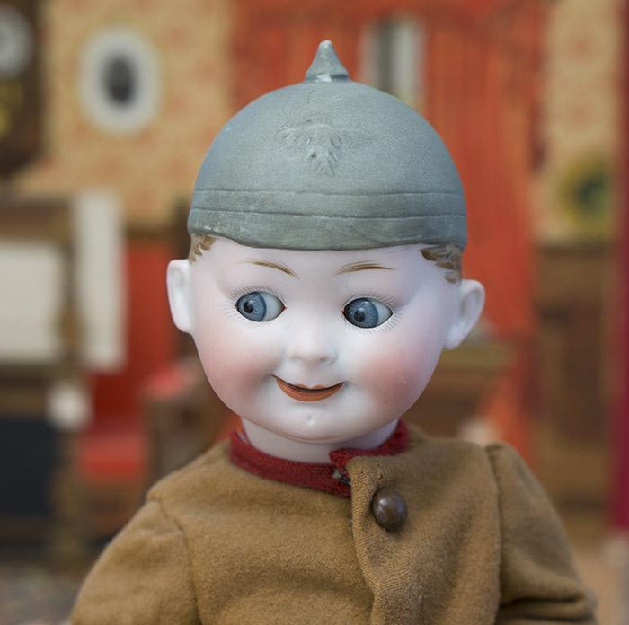 Bisque Character Helmet Googly doll