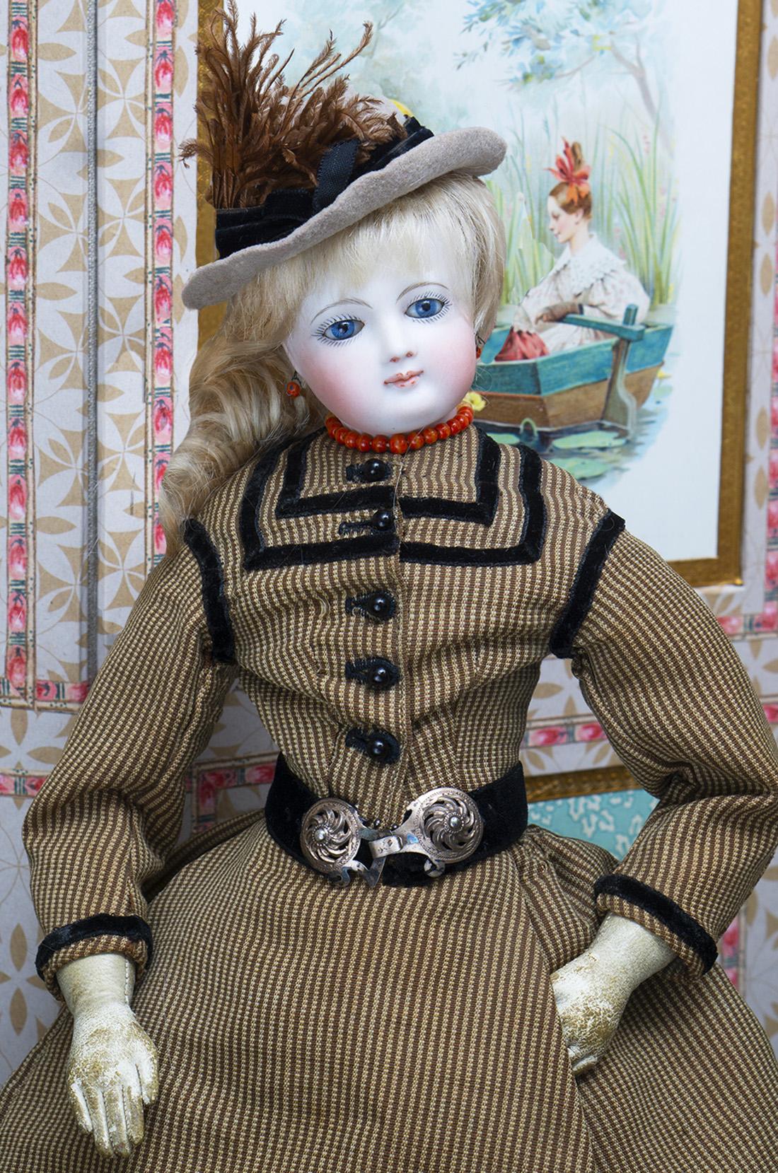 45см Редкая ранняя модная кукла от люксового магазина Aux Amis De Enfance