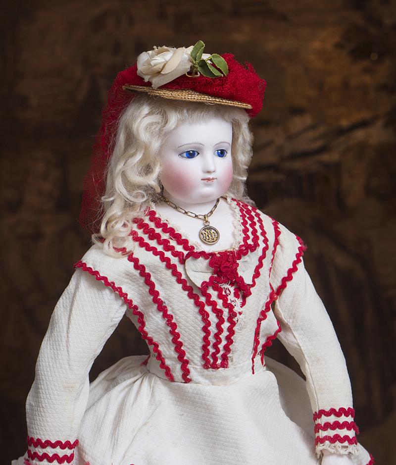 44,5 см Ранняя Модная кукла JL,  из магазина TERRENE, 1860е годы