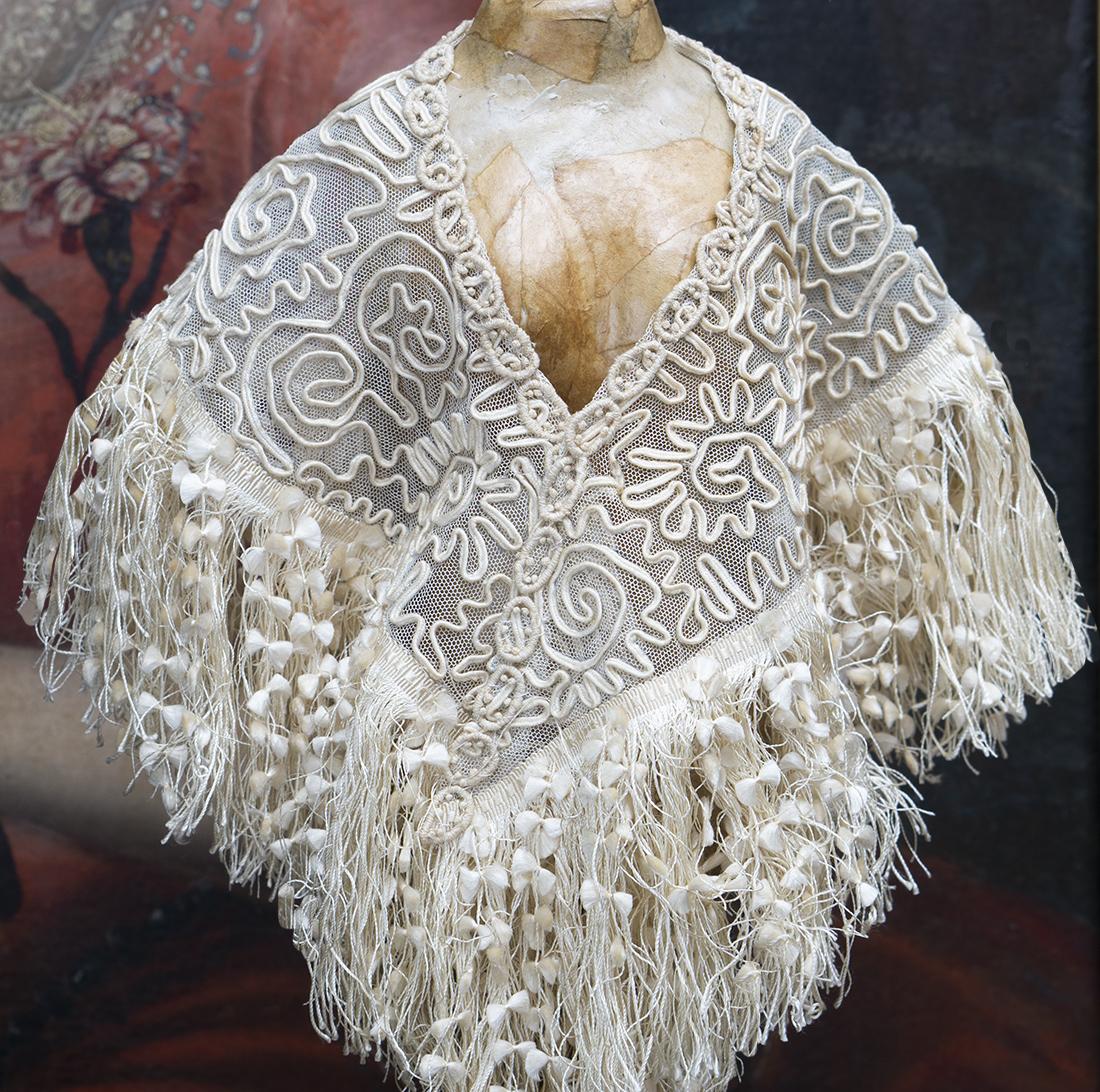 Antique doll shawl
