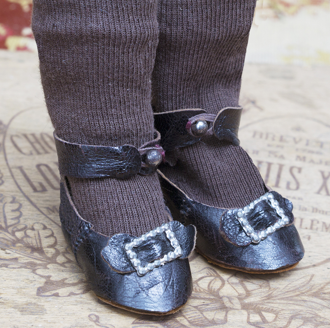 Antique doll shoes and socks