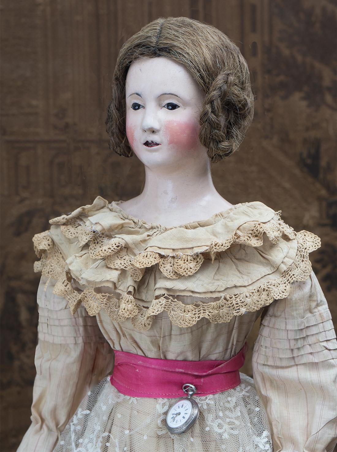 75cм Кукла из Папье-машеБ 1840г