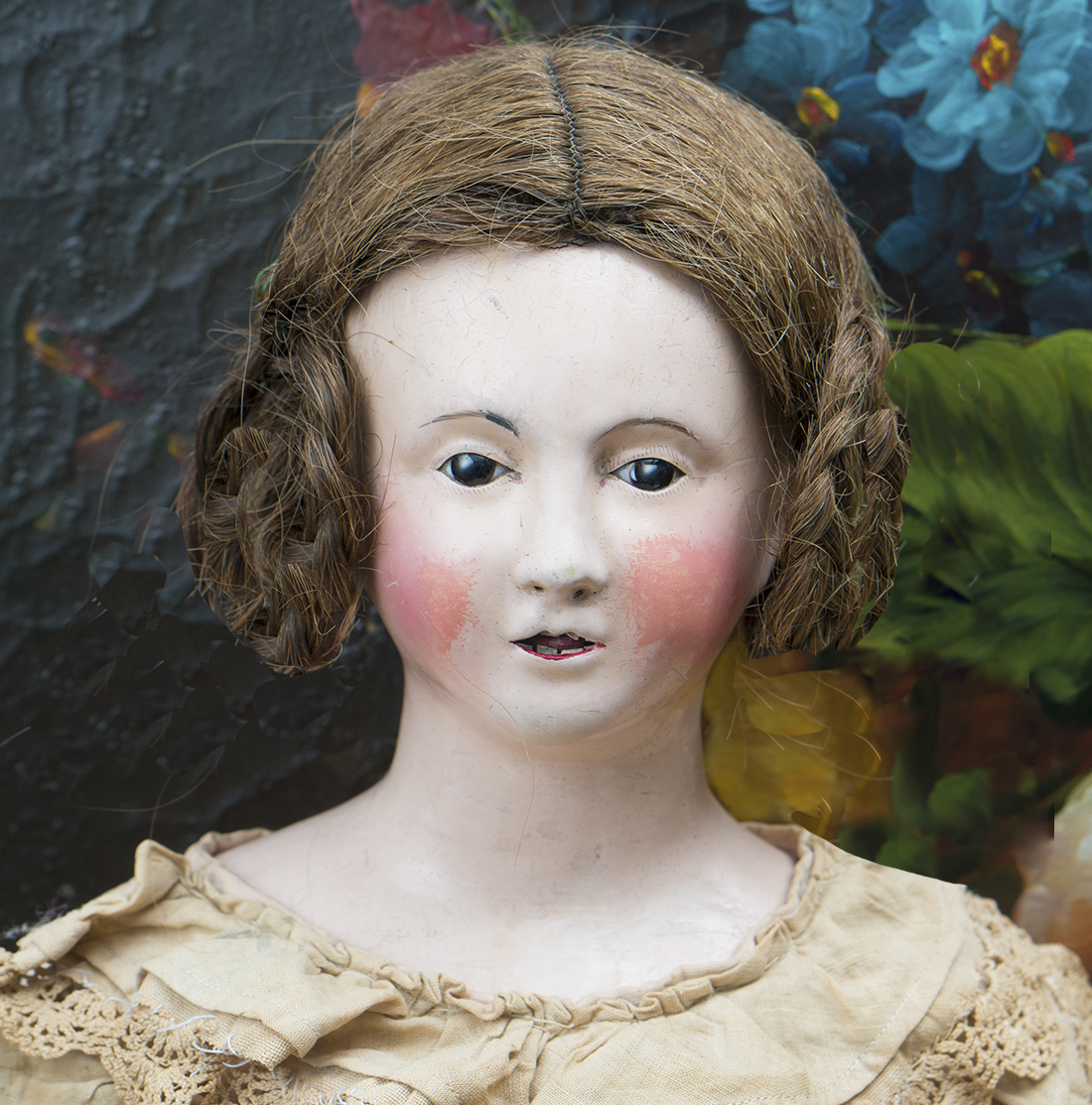 Papier Mache Early Large doll