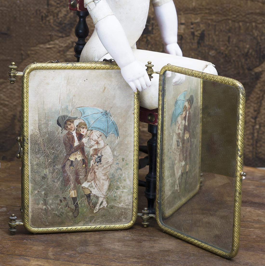 Antique doll miroir