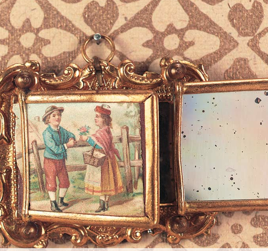 Antique miniature mirror