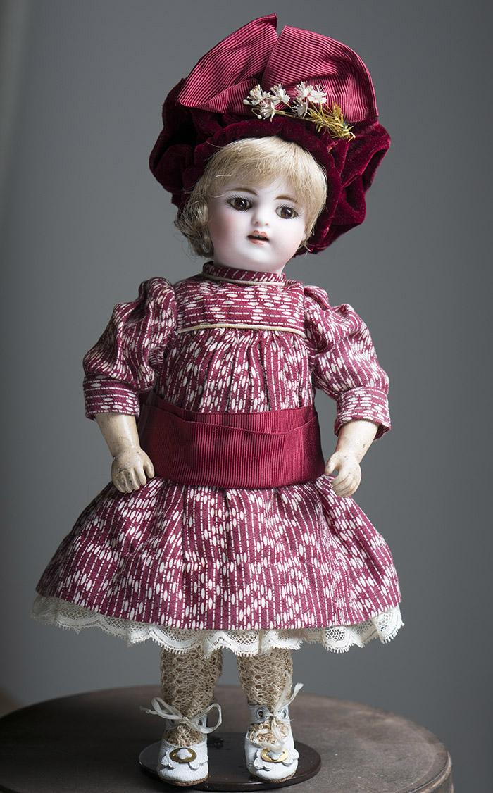 Ранняя Немецкая куколка кабинетного размера, высота 29 см, 1880-е годы