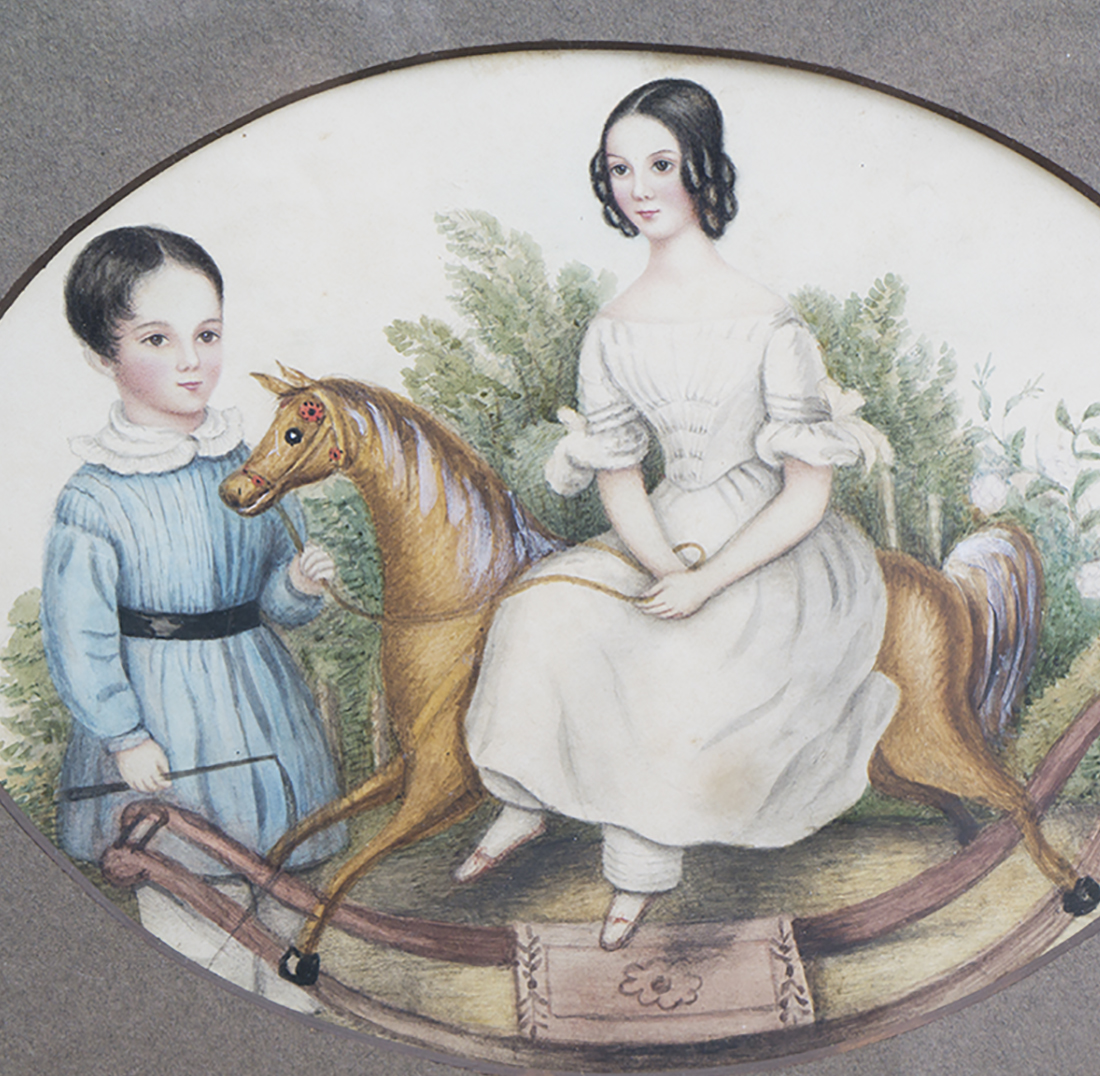 Antique Portrait of two child