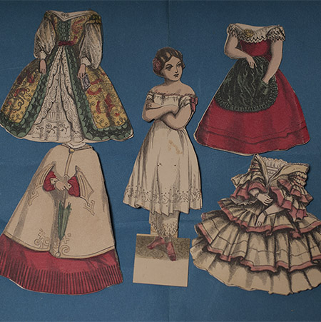 Rare French Paper Doll Set