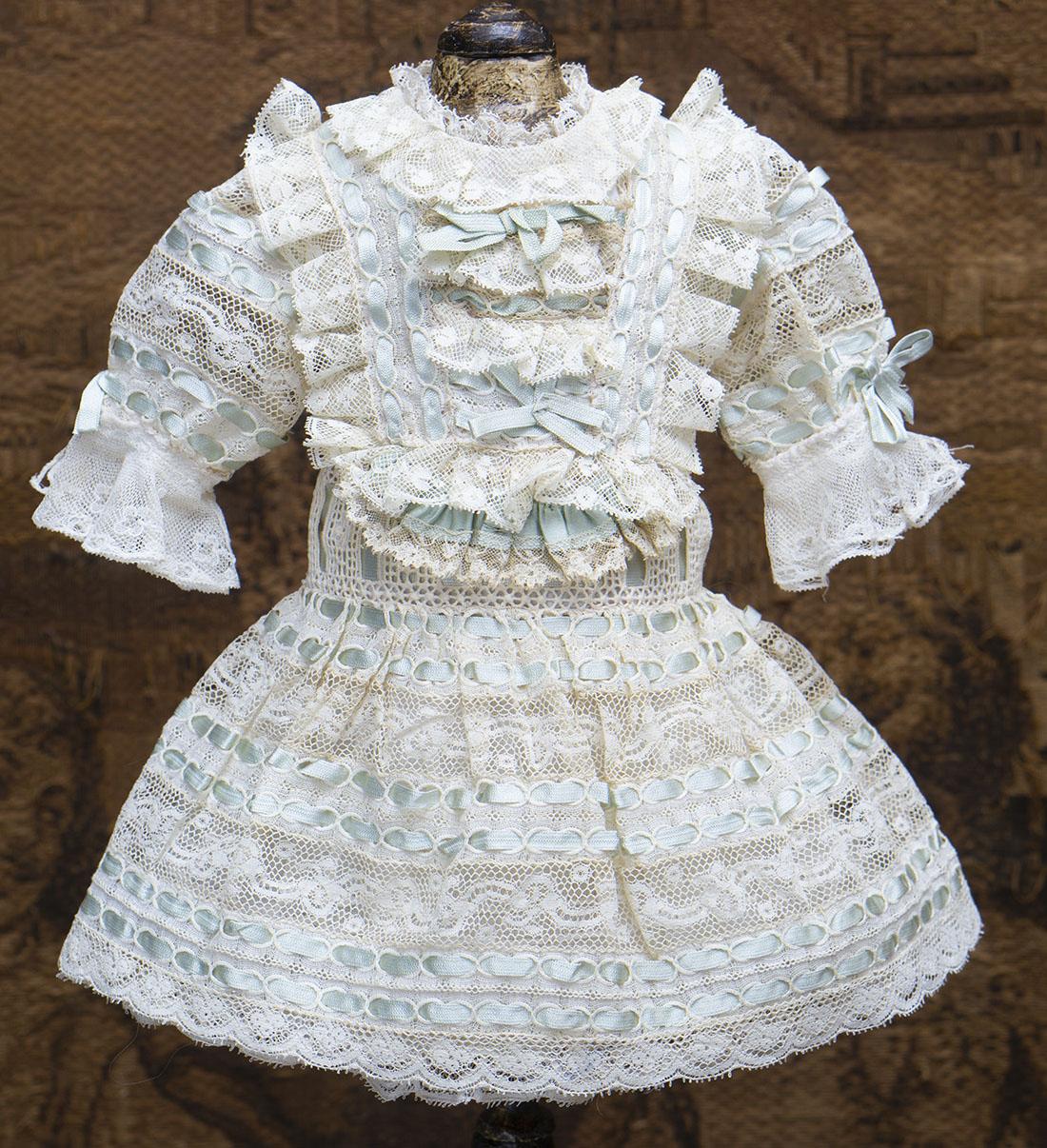 Старинное платье для куклы 42-45 см