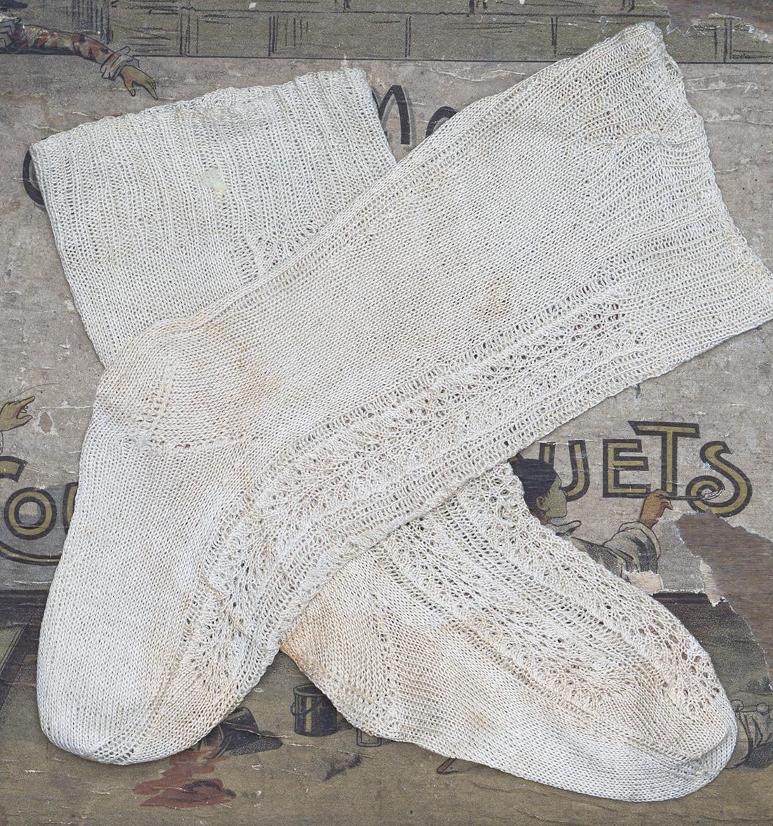 Antique Doll Socks